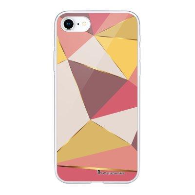Coque 360 iPhone 7 iPhone 8 360 intégrale transparente Triangles roses Ecriture Tendance Design La Coque Francaise