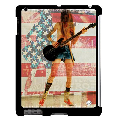 URBAN ART by DS coque Flag Guitar pour Apple iPad 2/3/4