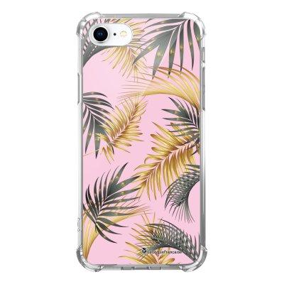 Coque iPhone 7 iPhone 8 anti-choc souple avec angles renforcés transparente Marbre rose et fougères Tendance La Coque Francaise...