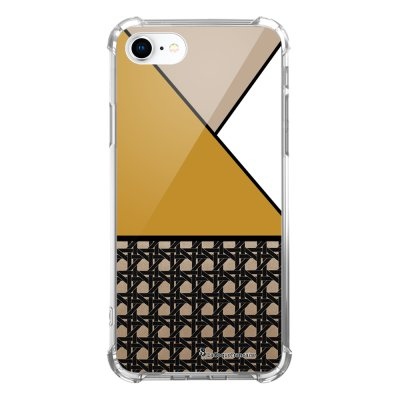 Coque iPhone 7 iPhone 8 anti-choc souple avec angles renforcés transparente Triangles moutarde Tendance La Coque Francaise...