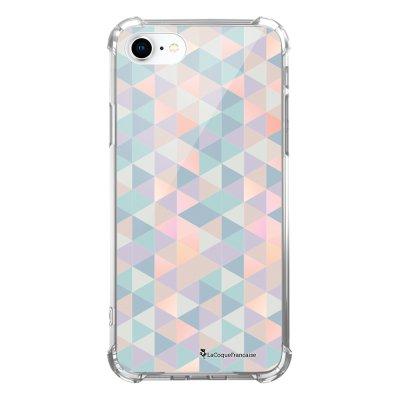 Coque iPhone 7 iPhone 8 anti-choc souple avec angles renforcés transparente Triangles multicolors Tendance La Coque Francaise...