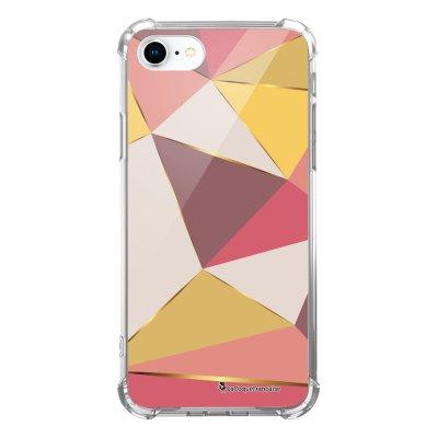 Coque iPhone 7 iPhone 8 anti-choc souple avec angles renforcés transparente Triangles roses Tendance La Coque Francaise...