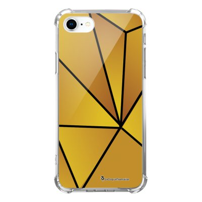 Coque iPhone 7 iPhone 8 anti-choc souple avec angles renforcés transparente Jaune géométrique Tendance La Coque Francaise...