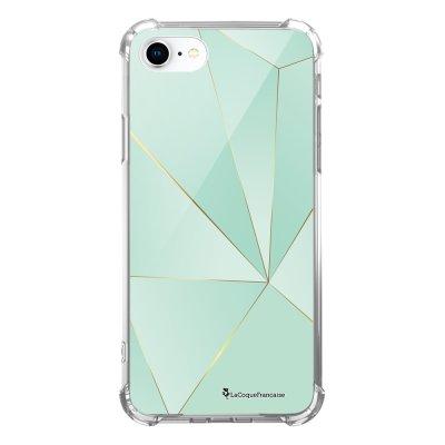 Coque iPhone 7 iPhone 8 anti-choc souple avec angles renforcés transparente Vert géométrique Tendance La Coque Francaise...