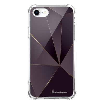 Coque iPhone 7 iPhone 8 anti-choc souple avec angles renforcés transparente Violet géométrique Tendance La Coque Francaise...