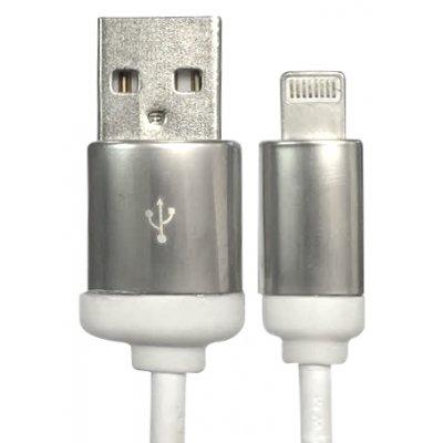 Câble de charge et synchronisation blanc argenté USB / Lightning 1.5m