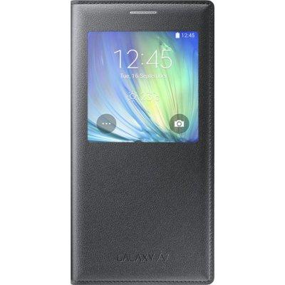 Etui à rabat à zone transparente Samsung EF-CA700BC noir pour Galaxy A7 A700
