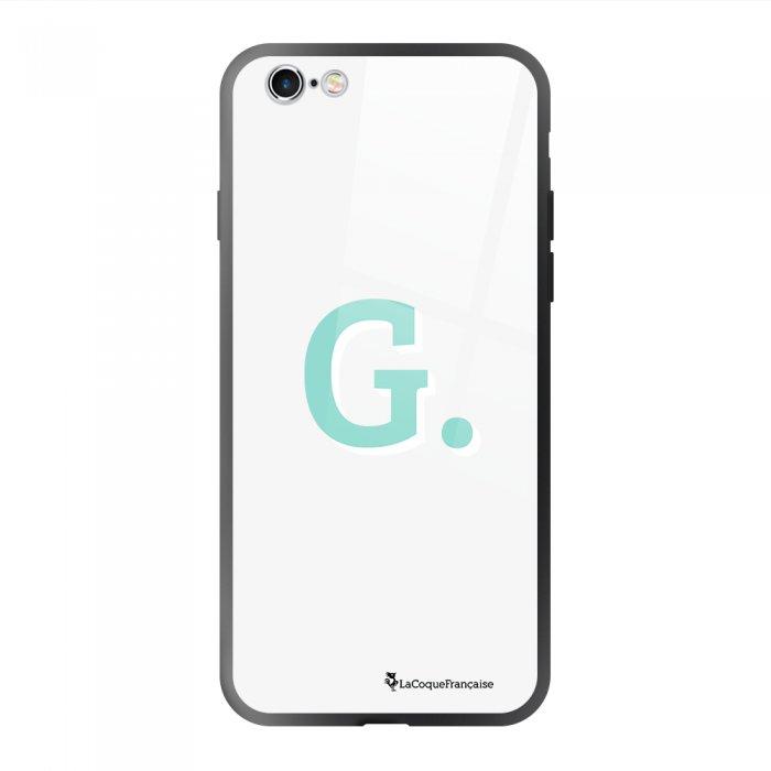Coque en verre trempé iPhone 6/6S Initiale G Ecriture Tendance et Design La Coque Francaise