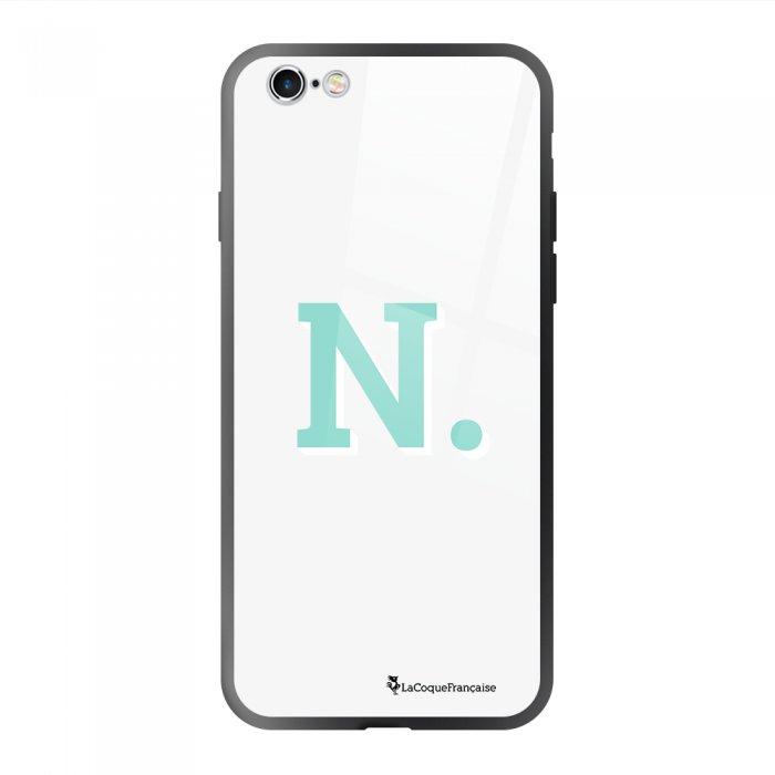 Coque en verre trempé iPhone 6/6S Initiale N Ecriture Tendance et Design La Coque Francaise.