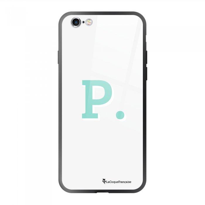 Coque en verre trempé iPhone 6/6S Initiale P Ecriture Tendance et Design La Coque Francaise
