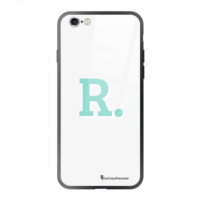 Coque en verre trempé iPhone 6/6S Initiale R Ecriture Tendance et Design La Coque Francaise