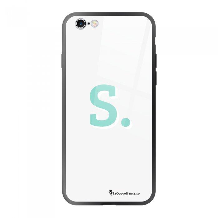 Coque en verre trempé iPhone 6/6S Initiale S Ecriture Tendance et Design La Coque Francaise