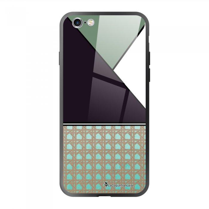 Coque en verre trempé iPhone 6/6S Canage vert Ecriture Tendance et Design La Coque Francaise.