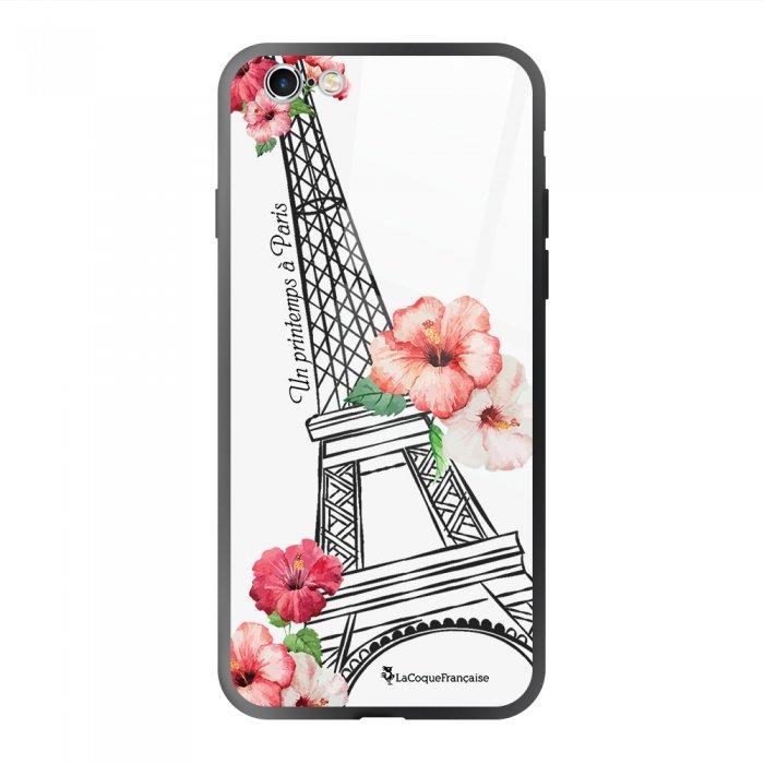 Coque en verre trempé iPhone 6 Plus /6S Plus Un Printemps à Paris Ecriture Tendance et Design La Coque Francaise