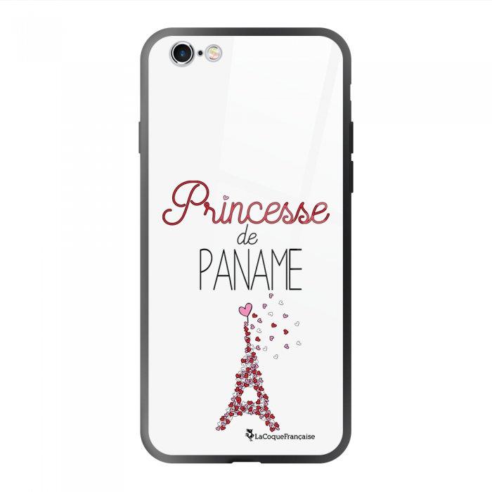 Coque en verre trempé iPhone 6 Plus / 6S Plus Princesse de Paname Ecriture Tendance et Design La Coque Francaise.