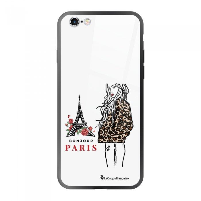 Coque en verre trempé iPhone 6 Plus / 6S Plus Fashion Girl à Paris Ecriture Tendance et Design La Coque Francaise.