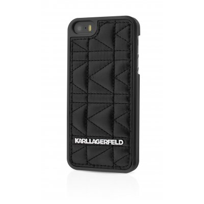 Karl Lagerfeld Coque Kuilted Noire Pour Apple Iphone 5/5s**