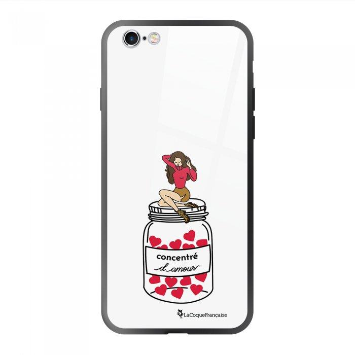Coque en verre trempé iPhone 6 Plus /6S Plus Concentré d'amour Ecriture Tendance et Design La Coque Francaise