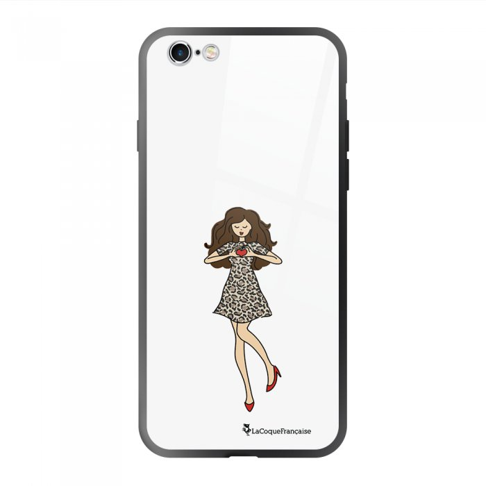 Coque en verre trempé iPhone 6 Plus /6S Plus Coeur d'amour Ecriture Tendance et Design La Coque Francaise