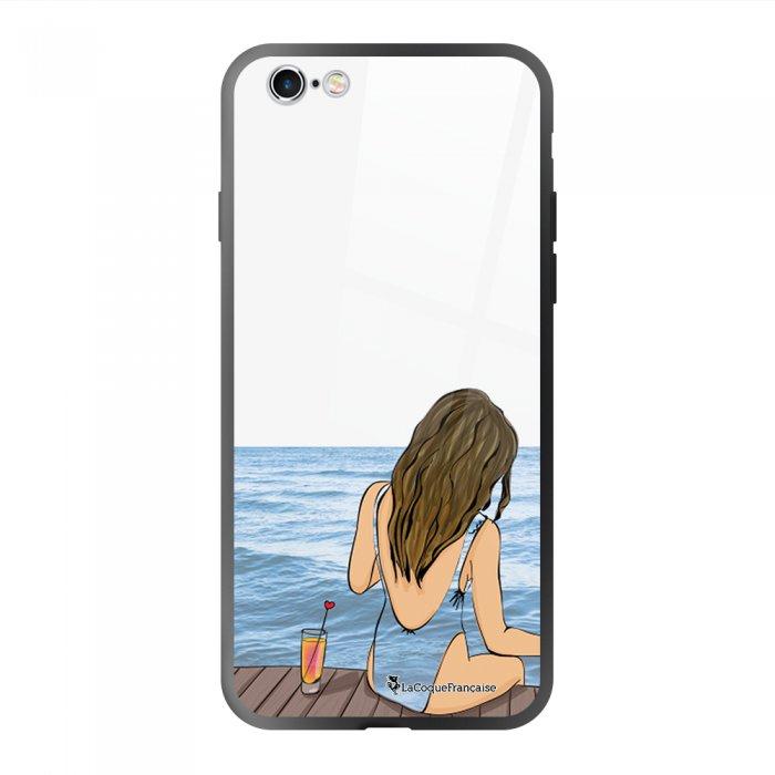 Coque en verre trempé iPhone 6 Plus / 6S Plus Au bord de l'eau Ecriture Tendance et Design La Coque Francaise.