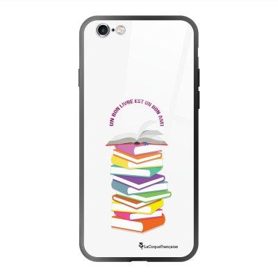 Coque en verre trempé iPhone 6 Plus /6S Plus Livres Ecriture Tendance et Design La Coque Francaise
