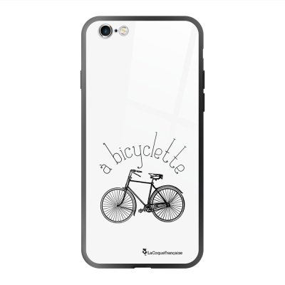 Coque en verre trempé iPhone 6 Plus /6S Plus Bicyclette Ecriture Tendance et Design La Coque Francaise