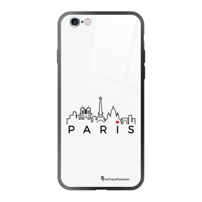 Coque en verre trempé iPhone 6 Plus /6S Plus Skyline Paris Ecriture Tendance et Design La Coque Francaise