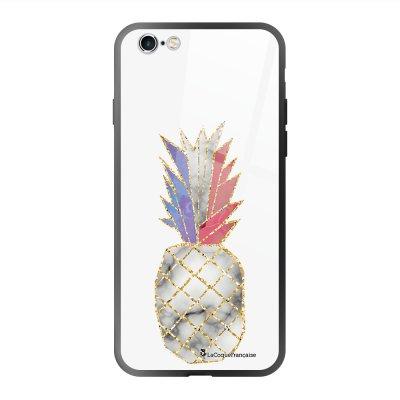 Coque en verre trempé iPhone 6 Plus /6S Plus Ananas à la Française Ecriture Tendance et Design La Coque Francaise