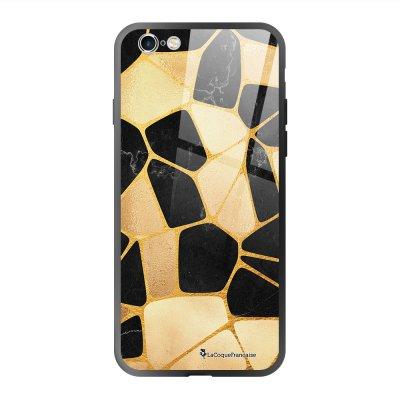 Coque en verre trempé iPhone 6 Plus /6S Plus Or Noir Ecriture Tendance et Design La Coque Francaise