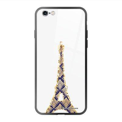 Coque en verre trempé iPhone 6 Plus /6S Plus Tour Eiffel Art Déco Ecriture Tendance et Design La Coque Francaise