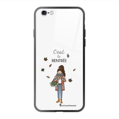 Coque en verre trempé iPhone 6 Plus /6S Plus C'est la rentrée Ecriture Tendance et Design La Coque Francaise
