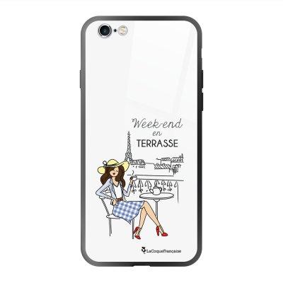 Coque en verre trempé iPhone 6 Plus /6S Plus Week-end en Terrasse Ecriture Tendance et Design La Coque Francaise