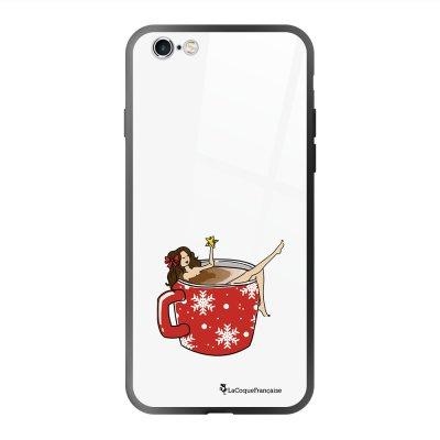 Coque en verre trempé iPhone 6 Plus /6S Plus Chocolat Chaud Ecriture Tendance et Design La Coque Francaise