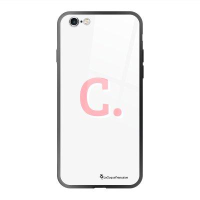 Coque en verre trempé iPhone 6 Plus /6S Plus Initiale C Ecriture Tendance et Design La Coque Francaise