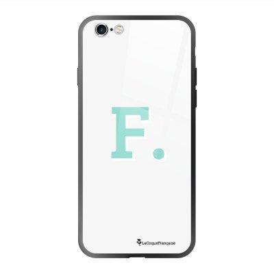 Coque en verre trempé iPhone 6 Plus /6S Plus Initiale F Ecriture Tendance et Design La Coque Francaise