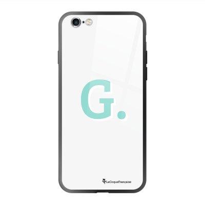 Coque en verre trempé iPhone 6 Plus /6S Plus Initiale G Ecriture Tendance et Design La Coque Francaise