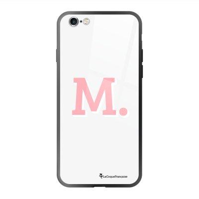 Coque en verre trempé iPhone 6 Plus /6S Plus Initiale M Ecriture Tendance et Design La Coque Francaise