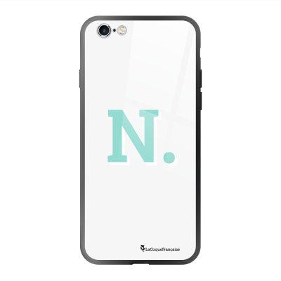 Coque en verre trempé iPhone 6 Plus /6S Plus Initiale N Ecriture Tendance et Design La Coque Francaise