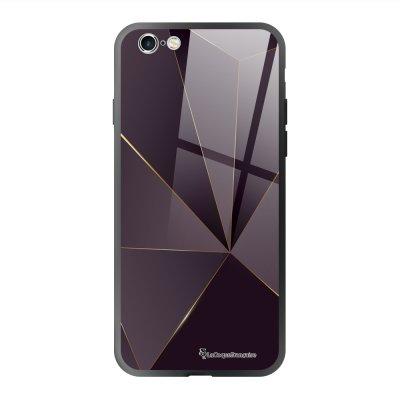 Coque en verre trempé iPhone 6 Plus /6S Plus Violet géométrique Ecriture Tendance et Design La Coque Francaise