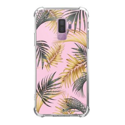 Coque Samsung Galaxy S9 Plus anti-choc souple avec angles renforcés transparente Marbre rose et fougères Tendance La Coque Francaise...