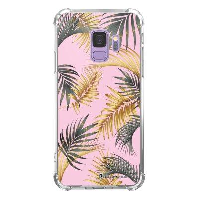 Coque Samsung Galaxy S9 anti-choc souple avec angles renforcés transparente Marbre rose et fougères Tendance La Coque Francaise...