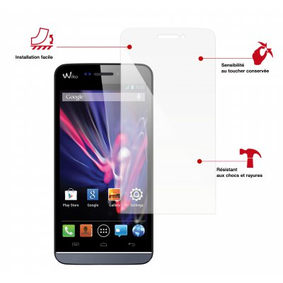 Swiss charger film de protection verre trempé Wiko Wax 4G