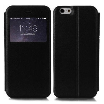 Etui livre fenêtre noir pour Apple iPhone 6