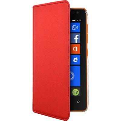 Etui folio rouge pour Nokia Lumia 435