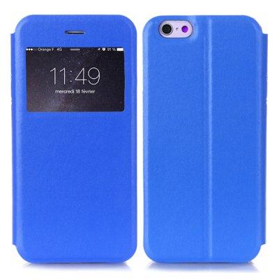 Etui livre fenêtre bleu pour Apple iPhone 6