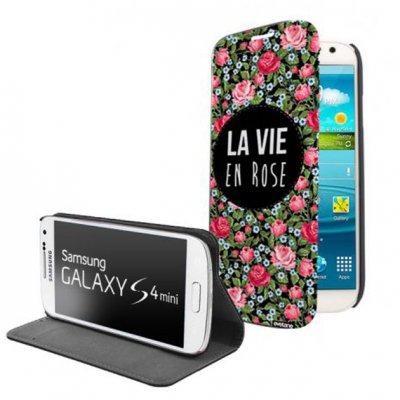 Etui livre La vie en rose pour Samsung Galaxy S4 mini