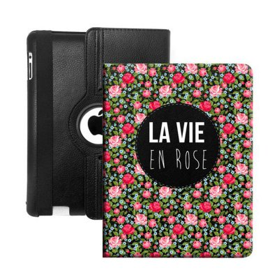 Etui livre La vie en rose pour Apple iPad air
