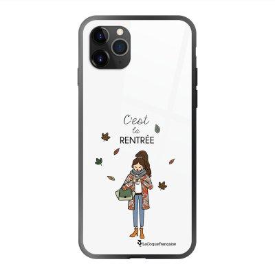 Coque en verre trempé iPhone 11 Pro Max C'est la rentrée Ecriture Tendance et Design La Coque Francaise