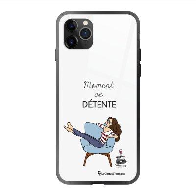 Coque en verre trempé iPhone 11 Pro Max Moment de détente Ecriture Tendance et Design La Coque Francaise