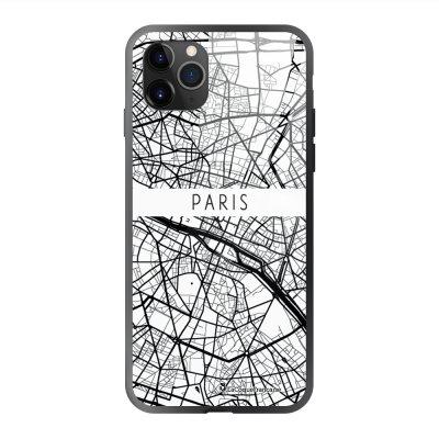 Coque en verre trempé iPhone 11 Pro Max Carte de Paris Ecriture Tendance et Design La Coque Francaise